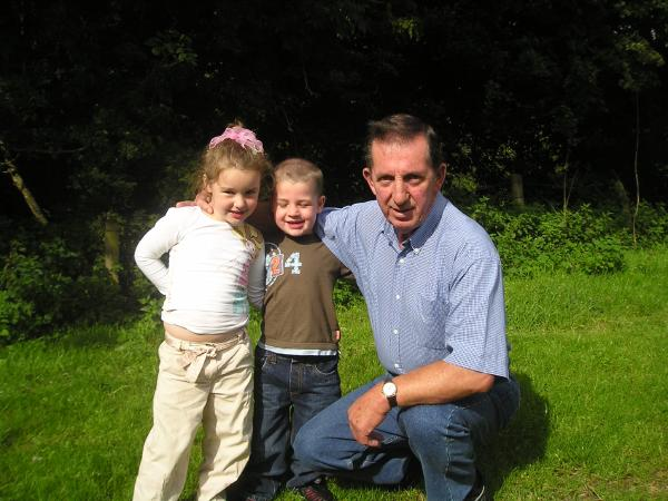 My father with Jake and Rachel in Glenshesk, 20 August 2006